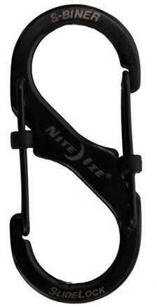 Nite Ize SlideLock Steel S-Biner #2 Black LSB2-01-R3