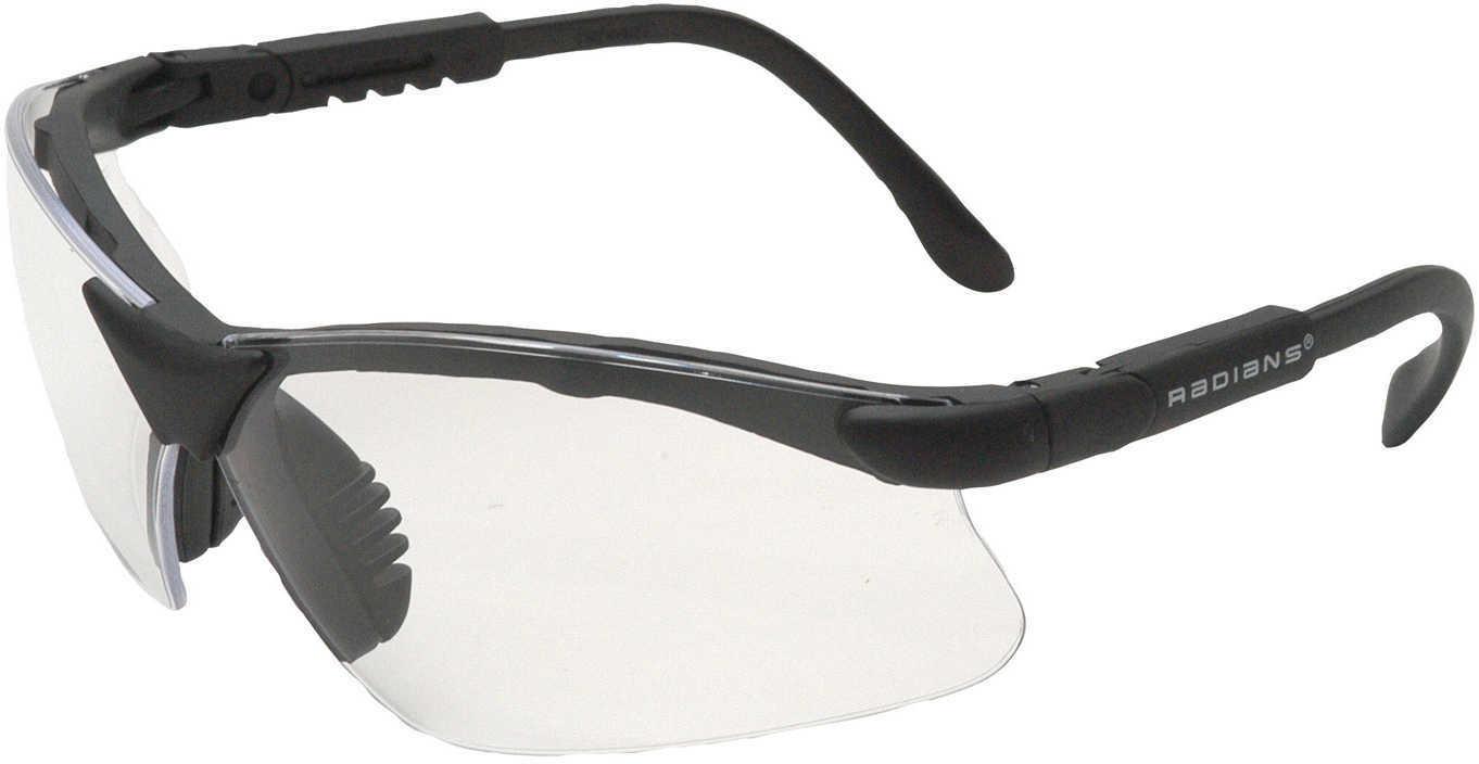 Radians Revelation Glasses Clear Lens, Black Frame RV0110CS