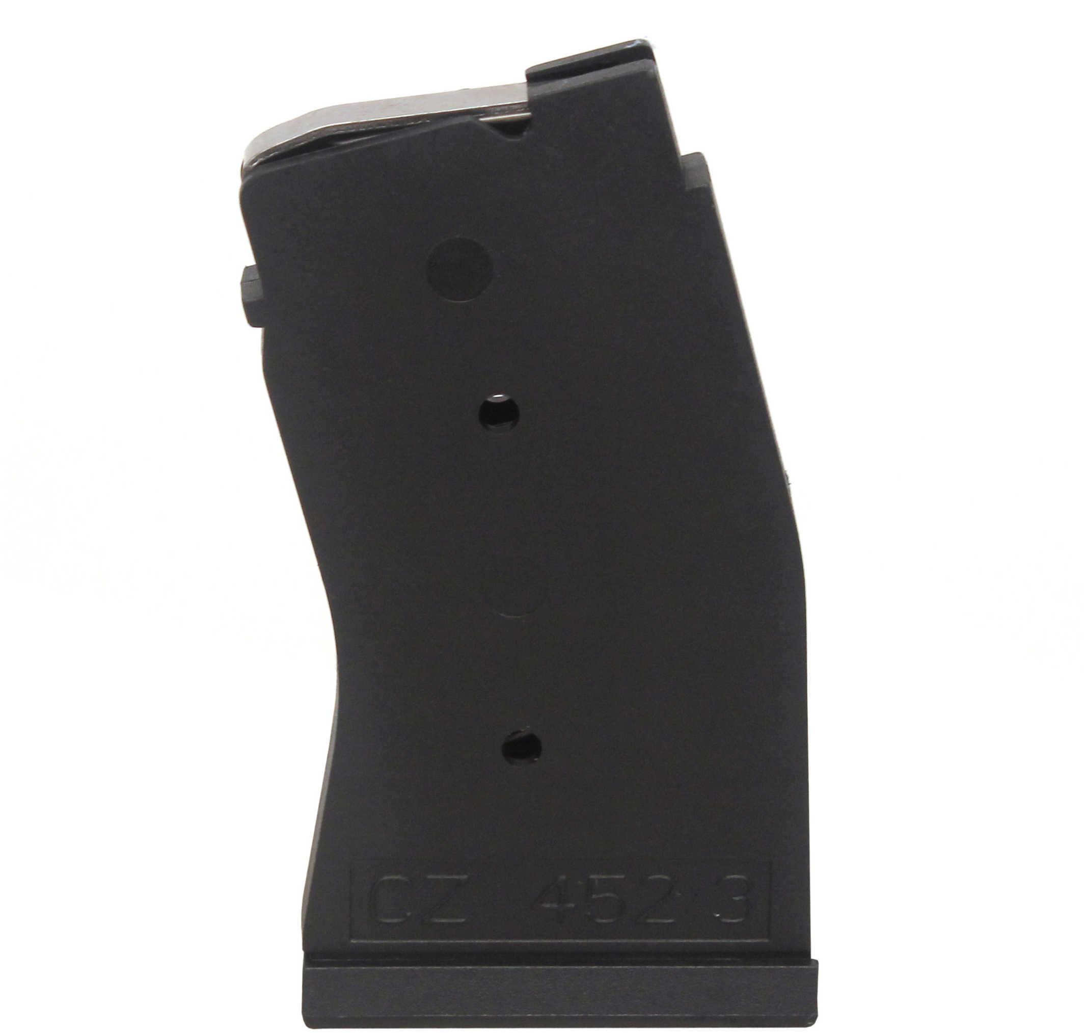 Magazine CZ 452/453 22 Winchester Magnum Rimfire (WMR) 10 Round Polymer Black Finish