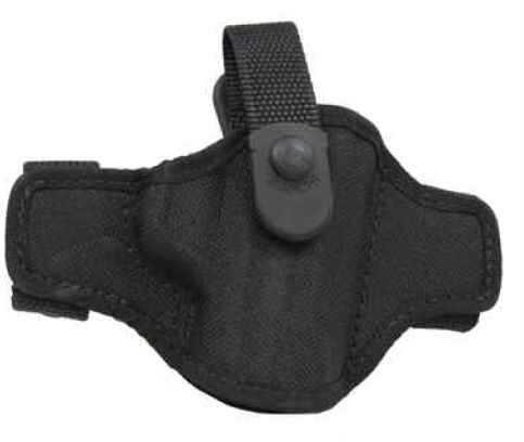 Bianchi 7506 AccuMold Belt Slide Holster, Thumb snap Plain Black, Size 14A, Right Hand 17862