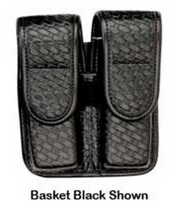 Bianchi 7902 AccuMold Elite Double Mag Pouch Size 2, Basket Black, Hidden Snap 22079