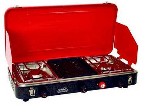 Tex Sport Propane Stove 2-Burner w/Grill 14228