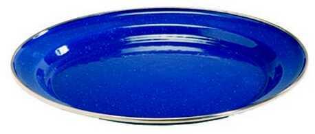 "Tex Sport Enamel Plate 10"" Dinner Stainless Steel Rim 14532"