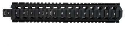 "Troy Industries Rifle Length Enhanced Drop-In Battle Rail, 12"" Black SRAI-DID-D2BT-00"