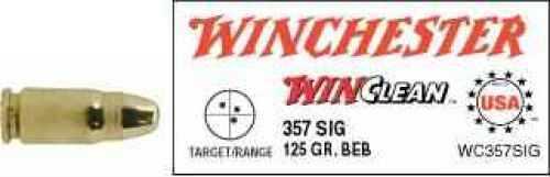 Winchester 357 Sig 357 Sig, 125gr, WinClean Brass Enclosed Base, (Per 50) WC357SIG