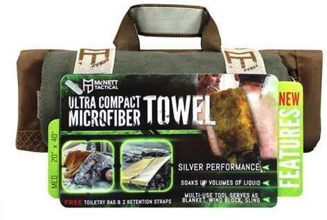 McNett OutGo Microfiber Towel, Medium OD Green 44033
