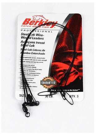 "Berkley Wire-Wound Steelon Leaders 6"" 30 lbs, Black 1011680"