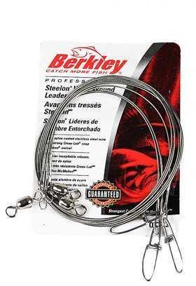 "Berkley Wire-Wound Steelon Leaders 9"" 20 lbs, Bright 1011681"