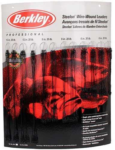 Berkley Wound Steelon Leader Bulk Display, Black Md: 1011780