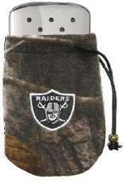 Zippo NFL/Realtree Logo Bag, w/Chrome Hand Warmer Oakland Raiders 40303