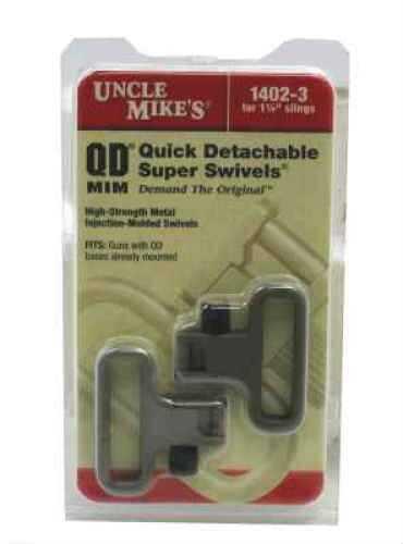"Uncle Mikes Swivels QD SS MIM 1 1/4"" Black 14023"