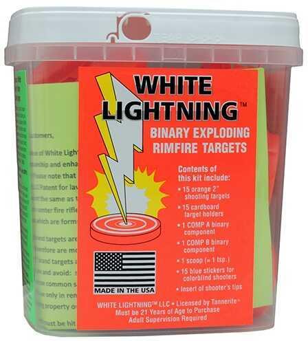 Tannerite White Lightning Rimfire Kit 15 Targets/Holders Md: WLK