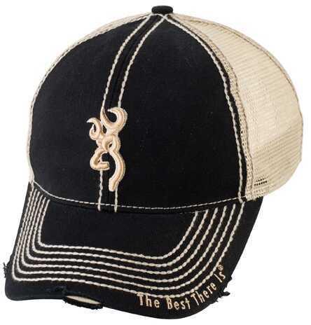 Browning Bozeman Meshback Cap, Black Md: 308357991