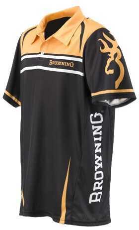 Browning Team Polo Shirt Gold/Black Medium Md: 3010527302