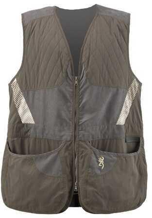 Browning Men's Summit Vest, Green/Dark Grey Medium Md: 3050318402