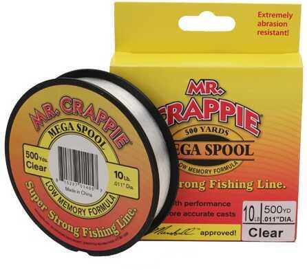 Lew's Mr. Crappie 500 Yard Filler Spool Clear, 10 lb Md: MC10FSCL