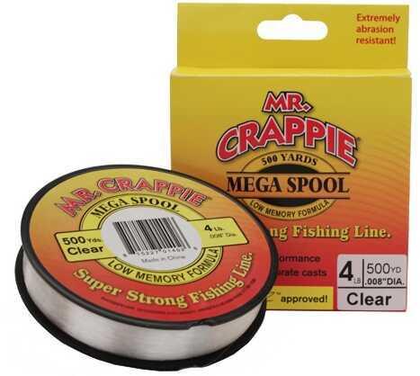 Lew's Mr. Crappie 500 Yard Filler Spool Clear, 4 lb Md: MC4FSCL