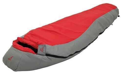 Alps Mountaineering Diamond Back Regular Scarlet/Grey +15° Md: Mummy Sleeping Bag 4421424