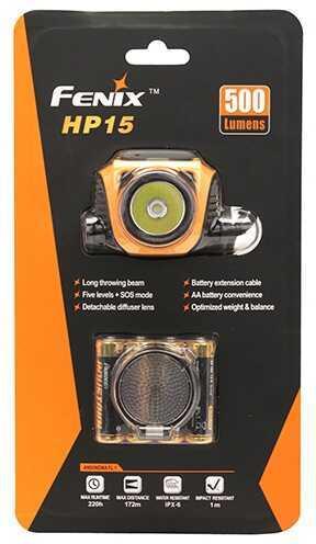 Fenix Wholesale Fenix Headlamp H Series 500 Lumens, Orange Md: HP15-ORG