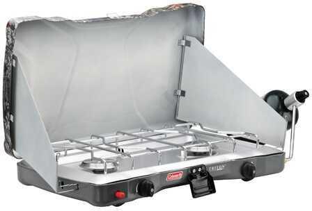Coleman Stove Portable Propane 2 Burner EI Triton, Camo Md: 2000014047