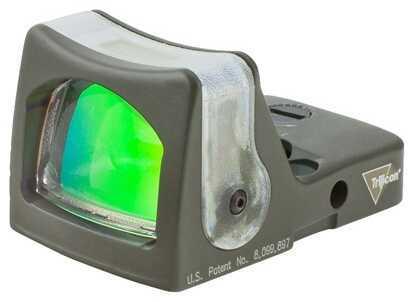 Trijicon RmR Sight Dual Illuminated 12.9 MOA, Amber Triangle, OD Green Md: Rm08-C-700257