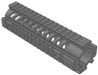 """Mission First Tactical Tekko Metal 2 Piece 7"""" Free Float Rail System Black Md: TMARCFF27IRS"""