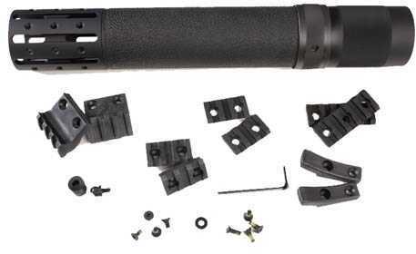 Hogue AR15 Rifle Long Free Float Forend w/Accessory OM Black Md: 15074