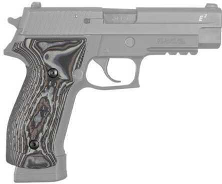 Hogue Sig P226 Grips DA/SA Magrip, Chain Link G-10 G-Mascus Black-Grey Md: 23117