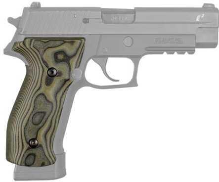 Hogue Sig P226 Grips DA/SA Magrip, Smooth G-10 G-Mascus Green Md: 23168