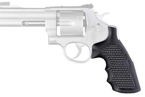 Hogue S&W N Frame Round Butt Grips Convert, Finger Grooves, Piranha G-10 Solid Black Md: 25139