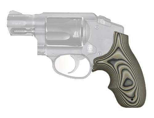 Hogue Smith & Wesson Bantam, Polymer Bodygaurd 38 Grip, Finger Grooves, Smith G-10 G-Mascus Green Md: 61148