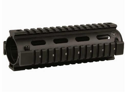 """Firefield Carbine Quad Rail 6.70"""" 2 Piece, Black Md: FF34001"""