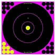 """Birchwood Casey Shoot-N-C Targets Bull's-Eye Pink 12"""" 12 Targets 13859"""