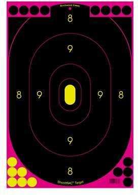 "Birchwood Casey Shoot-N-C Targets: Silhouette 12"" x 18"", Pink, (Per 100) Md: 34633"