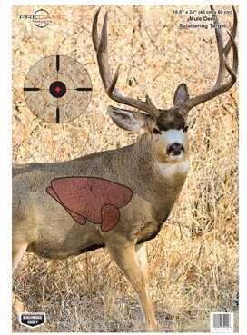 "Birchwood Casey Pregame Targets Mule Deer, 16.5"" x 24"" (Per 100) Md: 35412"