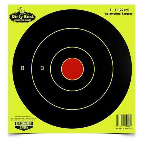 "Birchwood Casey Dirty Bird Chartreuse Bull's-Eye 8"" (Per 50) Md: 35950"