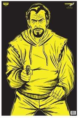 "Birchwood Casey Eze-Scorer Bad Guy 23"" x 35"" Black/Yellow (Per 5) 37035"