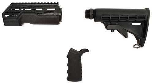American Built Arms Company AR-15 Furniture Kit (MOD1) Black Md: ABATUK1B