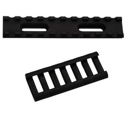 """Ergo AR-15 Alum. UMP Rail 10 Slot 4"""" w/Rail Cover, Black 4761"""