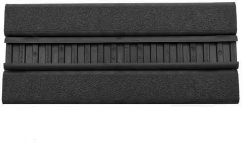 Ergo Text Slim Line 18 Slot Rail Cover, 3 Pack Black Md: 4379-Bk