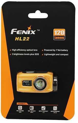 Fenix Wholesale Fenix H Series 120 Lumen, AA, Orange Md: HL22-ORG