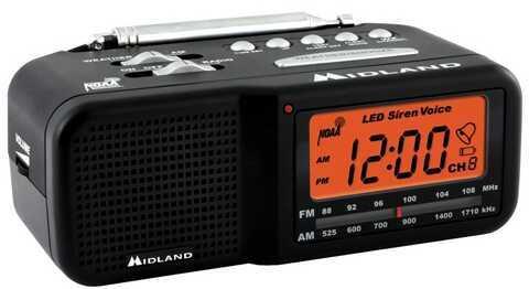 Midland Radios 7 Ch W/X Civil Monitor w/AM/FM ClockRadio Md: WR-11