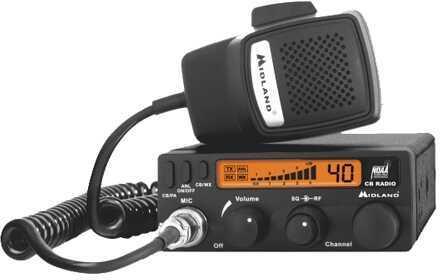 Midland Radios 40 Ch Mini Mobile CB Radio w/WX & PA Md: 1001LWX