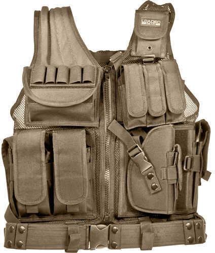 Barska Optics Barska Loaded Gear Tactical Vest VX-200, Tan Md: Bi12346