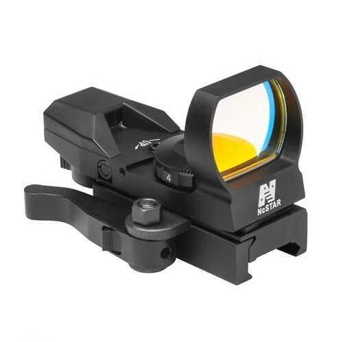 NcStar Green Reflex Sight/4 Reticles/QR Mount/Black Md: D4BGQ