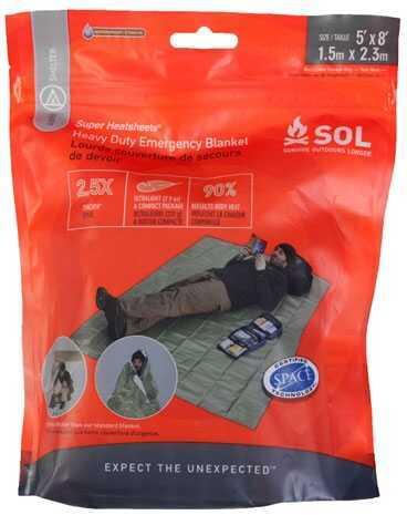 Survive Outdoors Longer / Tender Corp Adventure Medical SOL Series Heavy Duty Emergency Blanket Md: 0140-1225