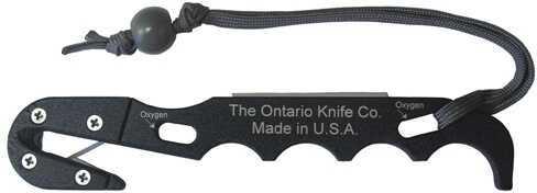 Ontario Knife Company Strap Cutter Black Model 2 w/Sheath Md: 1414