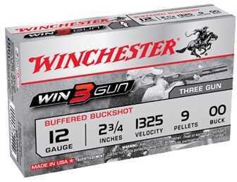 "Winchester 3 Gun 12 Ga 2.75"" 9 Pellet 00 Buck (Per 5) Md: XB1200TG"