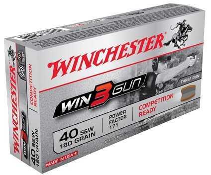 Winchester 3 Gun 40 S&W 180 Gr (Per 50) Md: X40TG