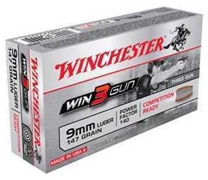 Winchester 3Gun 9MM 147GN 50/10 X9TG